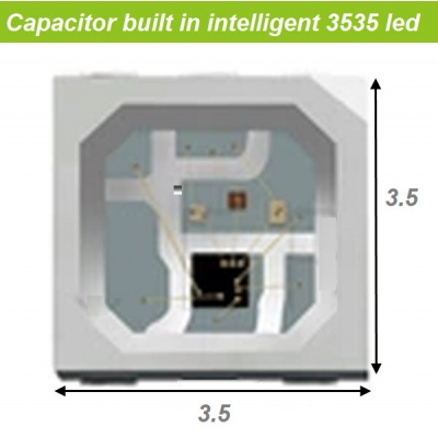 Capacitor and IC built in led